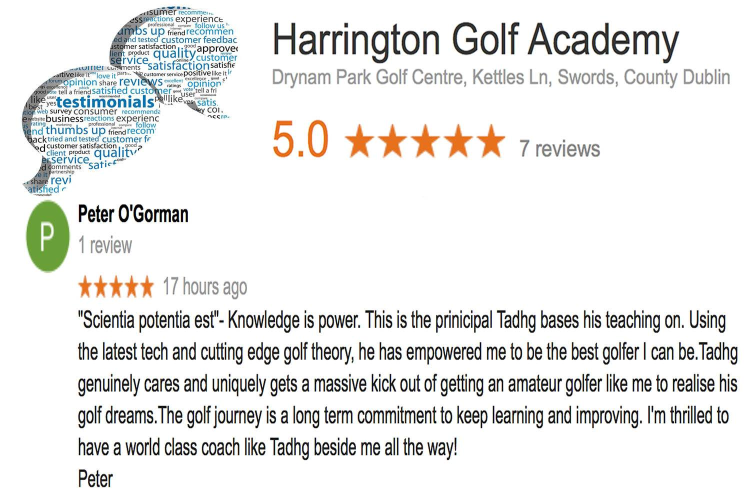 Harrington Golf Academy review