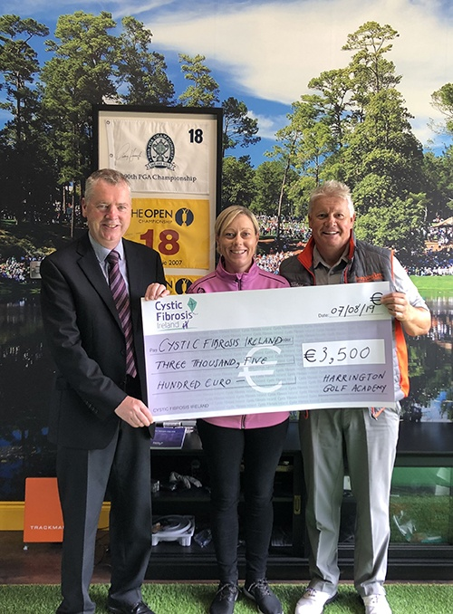 Presentation of cheque, Cystic Fibrosis, 2019